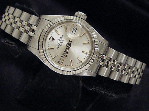 Ladies Rolex Stainless Steel Date Silver 69174 PRE-OWNED - Global Timez