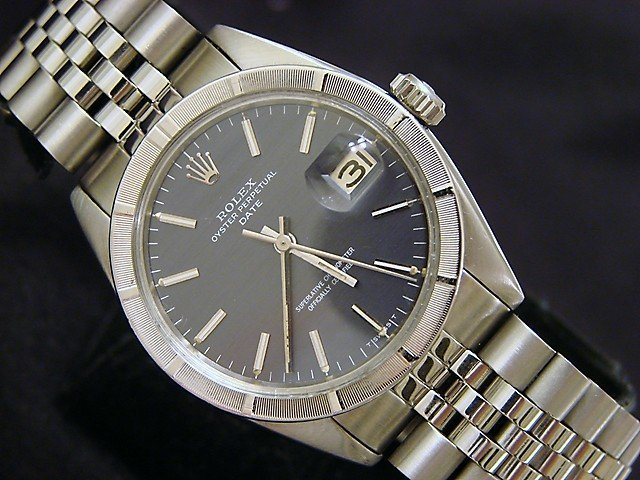 Men's Rolex Stainless Steel Date Gray Slate 1501 PRE-OWNED
