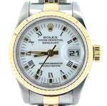 Ladies Rolex Two-Tone 18K/SS Datejust White Roman 69173 PRE-OWNED
