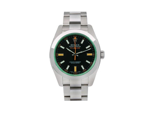Men's Rolex Milgauss 116400V 40mm Mens Watch PRE-OWNED - Global Timez