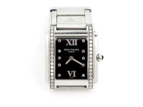 Ladies Patek Philippe Twenty-4 Diamond Rectangular Ladies Quartz Watch PRE-OWNED - Global Timez