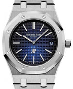 "Men's Audemars Piguet Royal Oak ""Jumbo"" Extra-Thin 15202IP.OO.1240IP.01 Blue Index Titanium 39mm - BRAND NEW"