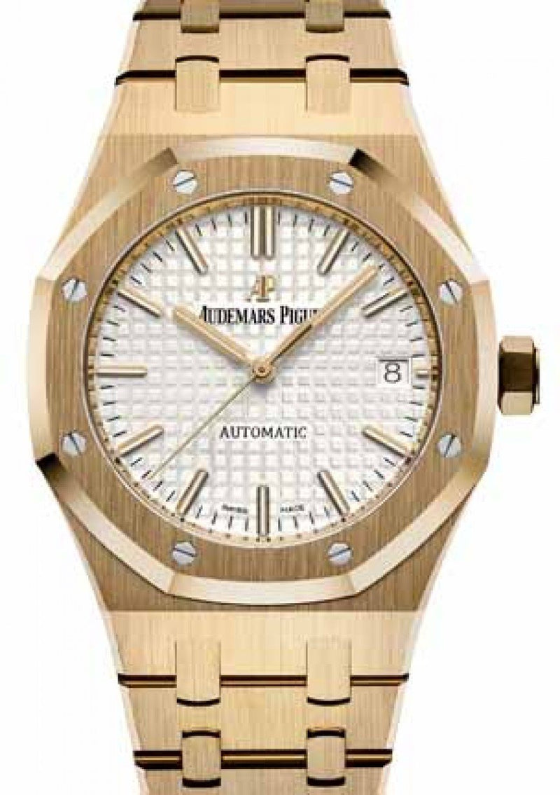 Men's Audemars Piguet 15450BA.OO.1256BA.01 Royal Oak Selfwinding 37mm Silver Index Yellow Gold - BRAND NEW