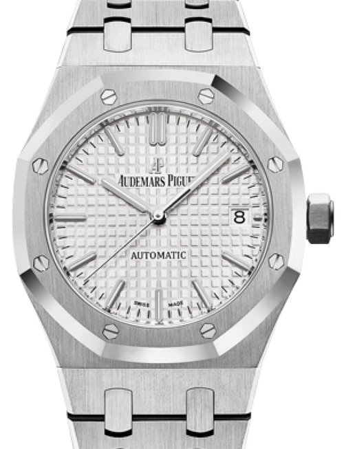 Men's Audemars Piguet Royal Oak Selfwinding Stainless Steel White Index Dial 37mm 15450ST.OO.1256ST.01 - BRAND NEW - Global Timez