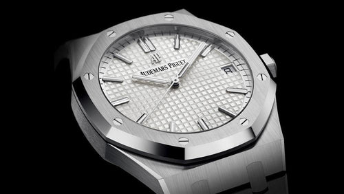 Men's Audemars Piguet Royal Oak Selfwinding Stainless Steel White Index Dial & Fixed Bezel Steel Bracelet 15500ST.OO.1220ST.04 - BRAND NEW - Global Timez