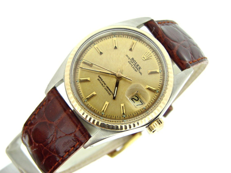 Men's Rolex Two-Tone 14K/SS Datejust Champagne 1601 PRE-OWNED