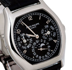 "Men's Patek Philippe Grand Complications Perpetual Calendar Day-Date Moon Phase Black Arabic White Gold Leather 37Ã""""44.6mm 5940G-010 - BRAND NEW"