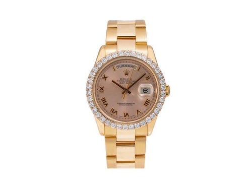 Ladies Rolex Day-Date 118205 36mm Watch PRE-OWNED - Global Timez