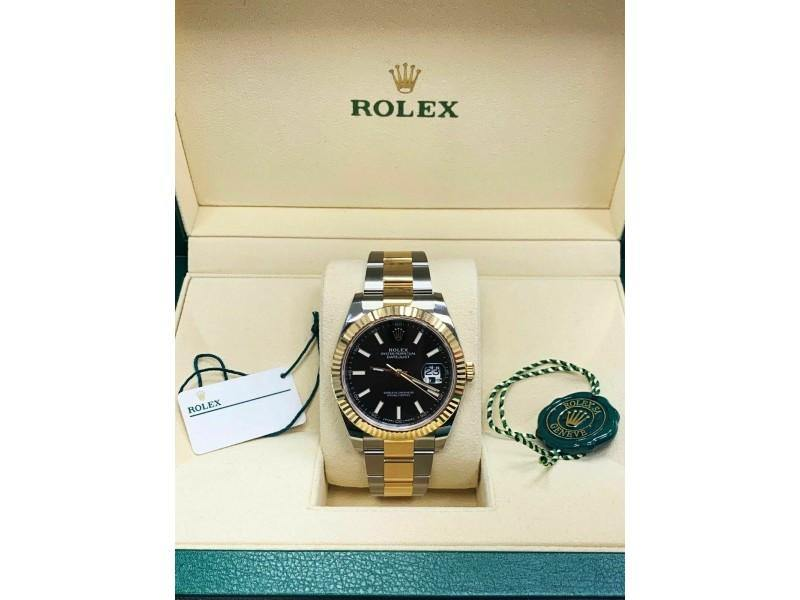 Men's BRAND NEW 126333 Rolex Datejust 41 18K Yellow Gold & Steel Box & Papers 2018 BRAND NEW - Global Timez