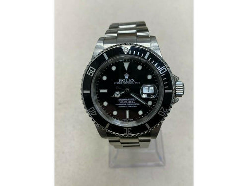 Men's Rolex Submariner Date 16610 Black Dial Stainless Steel PRE-OWNED - Global Timez