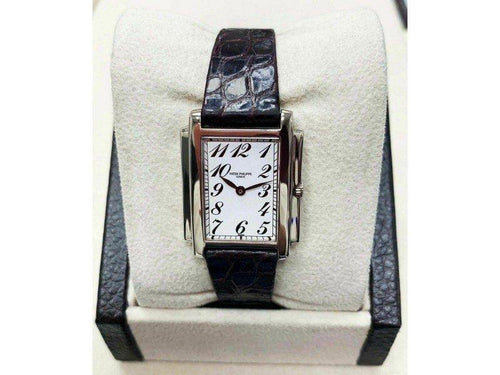 Ladies Patek Philippe Ladies Gondolo Ref 4824G 18K White Gold Box Papers PRE-OWNED - Global Timez