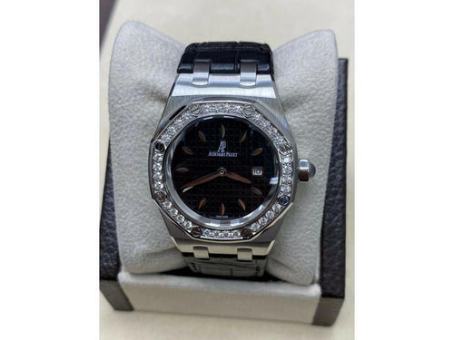 Men's Audemars Piguet Royal Oak Stainless 67651ST.ZZ.1261ST.01 Original Diamond Bezel PRE-OWNED - Global Timez