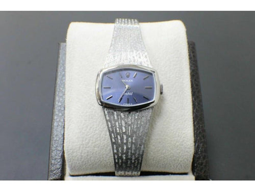 Ladies Rolex Ladies 3354 Rare Orchid 18K White Gold Watch Collectible PRE-OWNED - Global Timez