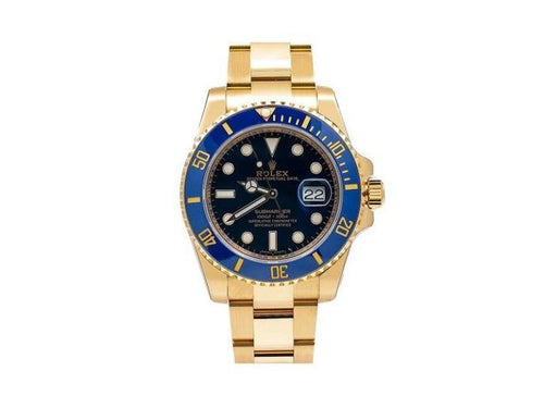 Men's Rolex Submariner Date 116618LB  40mm Mens Watch PRE-OWNED - Global Timez