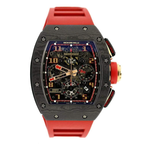 Men's Richard Mille RM011 NTPT Carbon 18K Rose Gold Lotus F1 Team Romain Grosjean Watch PRE-OWNED - Global Timez