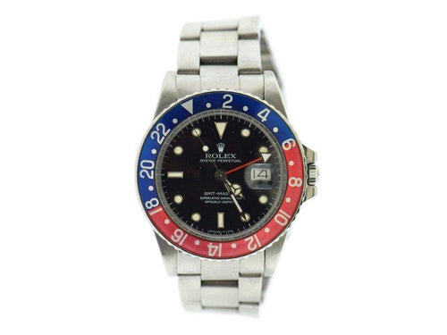 Men's Rolex GMT-Master 16750 Vintage 40mm Mens Watch PRE-OWNED - Global Timez
