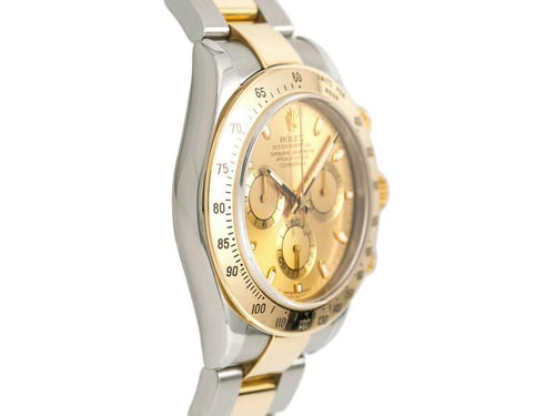 Men's Rolex Daytona 116523 Z Serial Watch Automatic 18k Two Tone Champagne Dial 40mm PRE-OWNED - Global Timez
