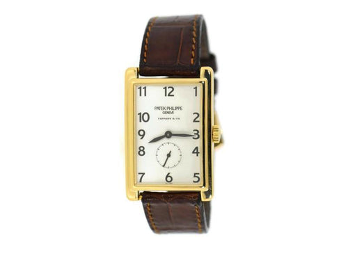 Men's Patek Philippe Gondolo Tiffany & Co 18K Yellow Gold Watch 5009J PRE-OWNED - Global Timez