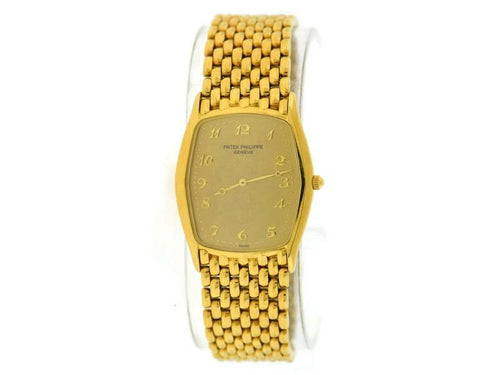Men's Patek Philippe Gondolo 18K Yellow Gold Watch 3842/1 Archive Extract PRE-OWNED - Global Timez