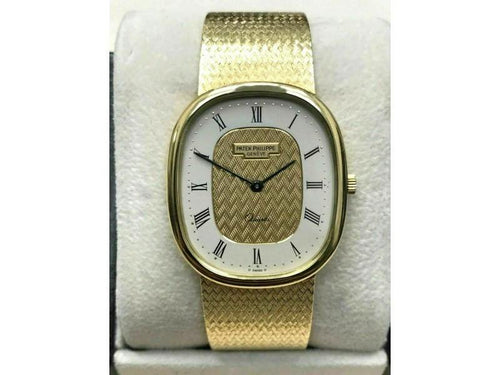 Men's Patek Philippe Golden Ellipse Ref 3838 18K Solid Gold With Box PRE-OWNED - Global Timez
