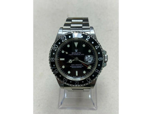 Men's Rolex GMT Master 16700 Black Dial Stainless Steel Watch Box Booklet PRE-OWNED - Global Timez