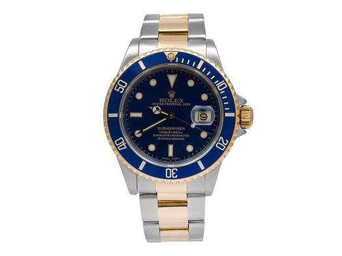 Men's Rolex Submariner Date 16613 40mm Mens Watch PRE-OWNED - Global Timez
