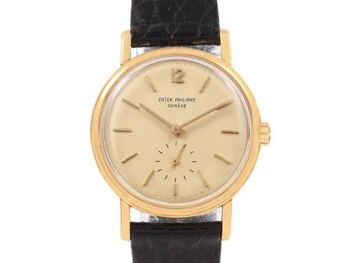 Men's Patek Philippe Calatrava Vintage Yellow Gold Automatic Mens Watch 3435 PRE-OWNED - Global Timez