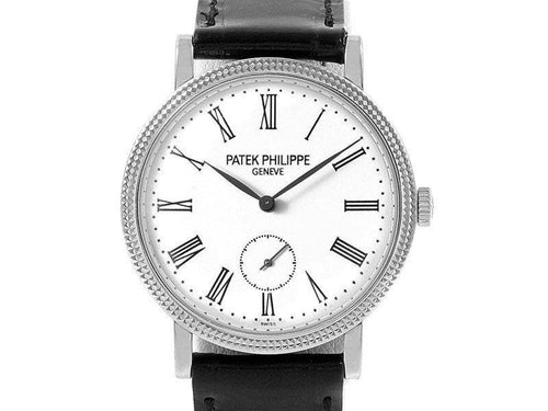Ladies Patek Philippe Calatrava 31mm White Gold Ladies Watch 7119G Box Papers PRE-OWNED - Global Timez