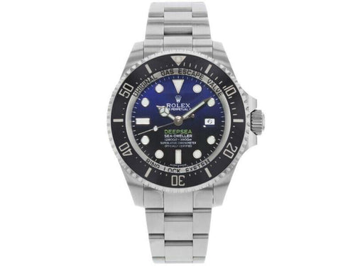 Men's Rolex 116660 Sea-Dweller  Stainless Steel Black & Blue PRE-OWNED - Global Timez