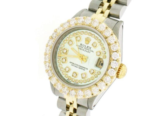 Ladies Rolex Datejust 26mm Yellow Gold/SS Jubilee Diamond Watch PRE-OWNED - Global Timez