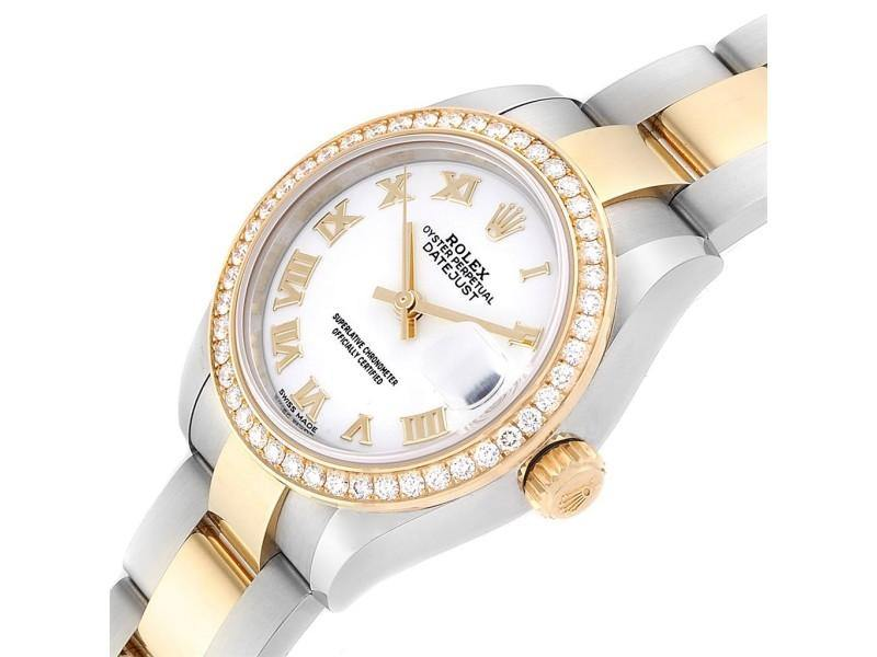 Ladies Rolex Datejust 28 Steel Rolesor Yellow Gold Diamond Ladies Watch 279383 PRE-OWNED