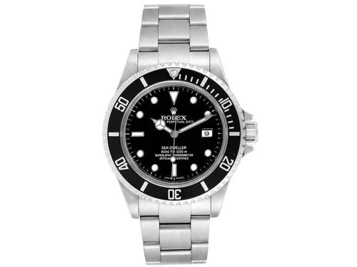 Men's Rolex Sea-Dweller Black Dial Automatic Steel Mens Watch 16600 PRE-OWNED - Global Timez
