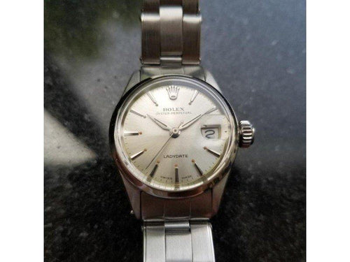 Ladies Rolex Oyster Perpetual 6516 25mm Vintage Watch PRE-OWNED - Global Timez