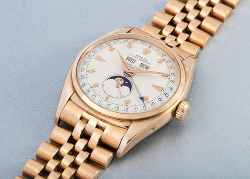 Men's Rolex PINK GOLD REFERENCE 6062- PRE-OWNED - Global Timez