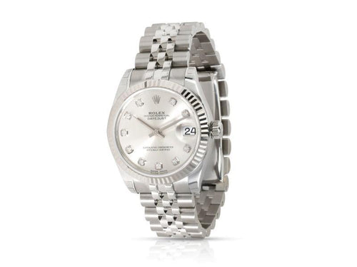 Ladies Rolex Datejust 178274 Watch In 18kt Stainless Steel/White Gold PRE-OWNED - Global Timez