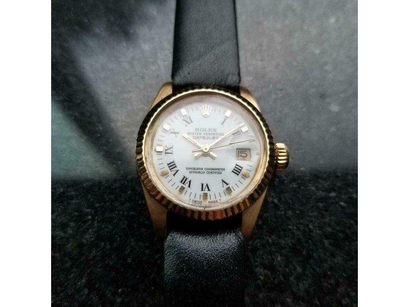 Ladies ROLEX 18k Solid Gold Ladies Datejust 6917 Automatic, C.1982 Swiss Luxury LV928 PRE-OWNED - Global Timez