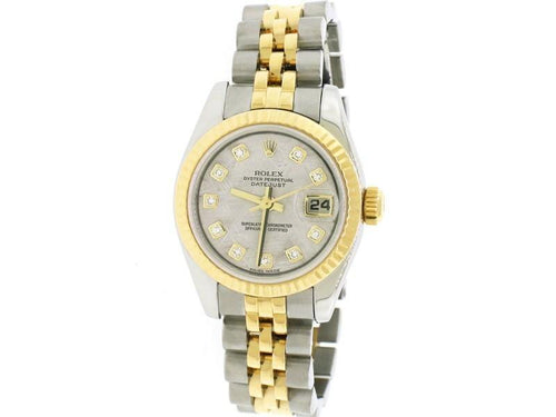 Ladies Rolex Datejust 26mm Yellow Gold/Steel Jubilee Watch 179173 PRE-OWNED - Global Timez