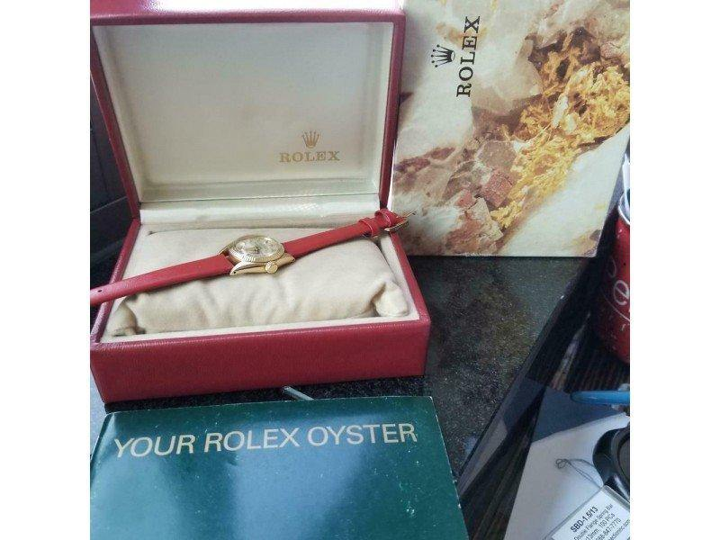Ladies Rolex 18K Gold Oyster Perpetual Ref.6619 Automatic W/Box, C.1968 MS142RED PRE-OWNED