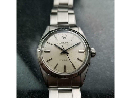 Men's  Rolex Midsize Oyster Speedking 6431 Hand-Wind, C.1968 Swiss Vintage LV752 PRE-OWNED - Global Timez