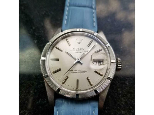 Men's  Rolex Oyster Perpetual Date Ref.1501 Automatic 1975 Swiss Vintage LV918BLU PRE-OWNED - Global Timez
