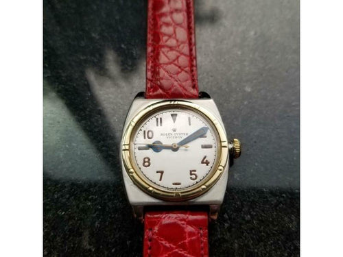 Men's  Rolex Ref.3359 Oyster Viceroy 14k Gold & SS Hand-Wind C1946 Swiss MA163RED PRE-OWNED - Global Timez