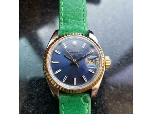 Ladies Rolex Oyster Date Ref.6917 26mm Automatic W/Box & Paper, C.1980s LV973GRN PRE-OWNED - Global Timez