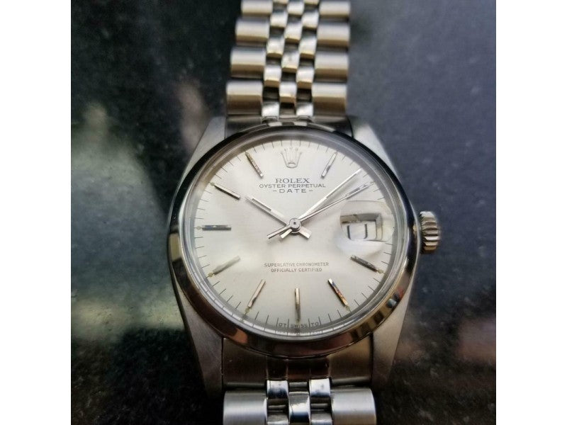 Men's  Rolex Oyster Perpetual Date Ref.1501 35mm Automatic, C.1970s LV910 PRE-OWNED