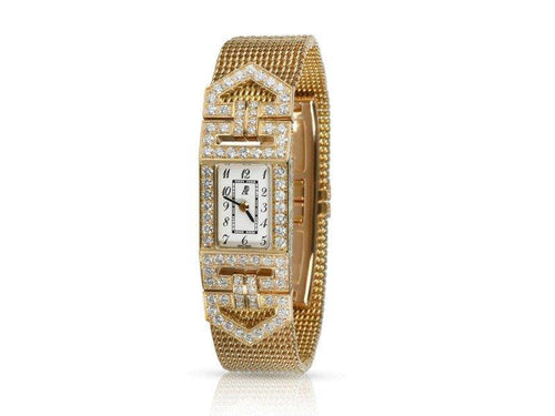 Ladies Audemars Piguet Charleston 67025BA  Watch In 18kt Yellow Gold PRE-OWNED - Global Timez