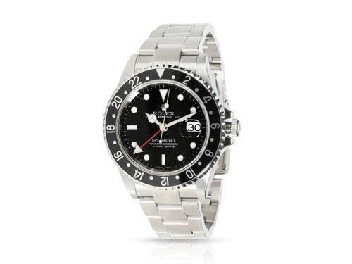 Men's Rolex GMT II 16710  Watch In Stainless Steel PRE-OWNED - Global Timez