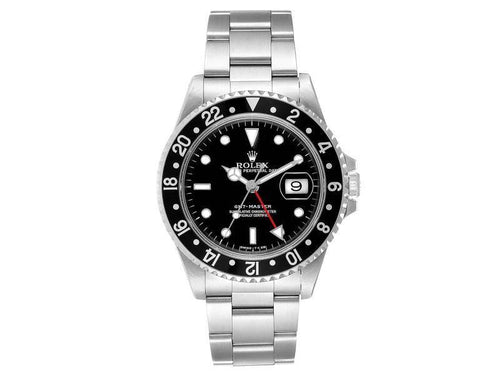 Men's Rolex GMT Master Black Bezel Automatic Steel Mens Watch 16700 PRE-OWNED - Global Timez