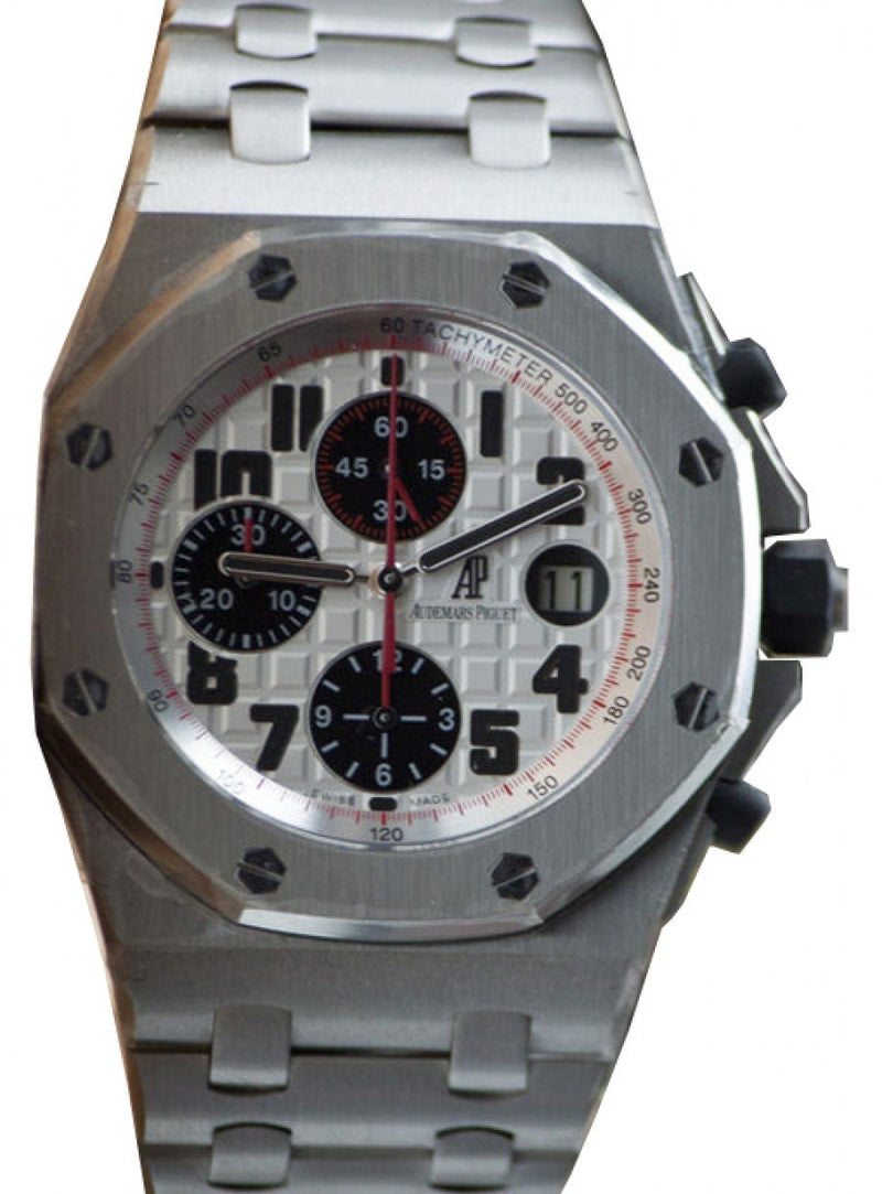 Men's Audemars Piguet 26170ST.OO.1000ST.01 Royal Oak Offshore Chronograph 42mm Silver Arabic Stainless Steel Automatic - BRAND NEW