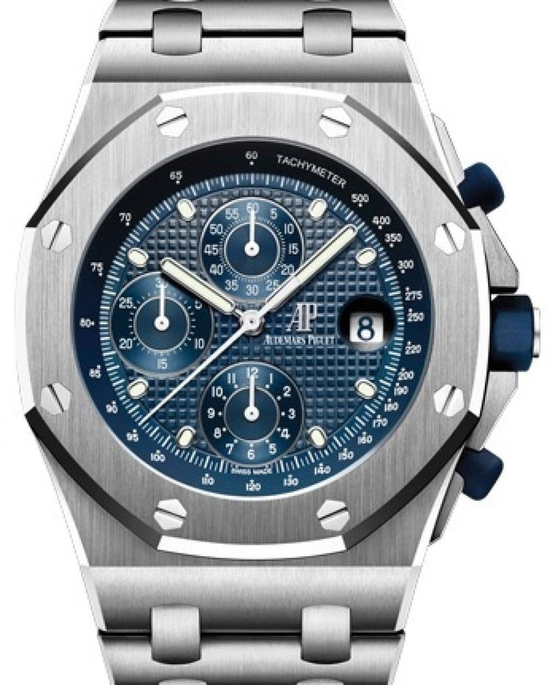 Men's Audemars Piguet Royal Oak Offshore Selfwinding Chronograph 26237ST.OO.1000ST.01 Blue Index Stainless Steel 42mm Automatic - BRAND NEW