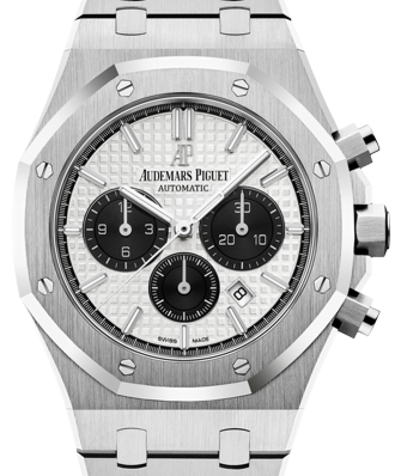 Men's Audemars Piguet Royal Oak Chronograph Stainless Steel 41mm Silver Index 26331ST.OO.1220ST.03 - BRAND NEW