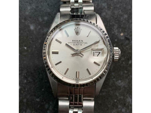 Ladies ROLEX Ladies Oyster Perpetual Date 6517 Automatic C1971 Swiss All Original LV748 PRE-OWNED - Global Timez
